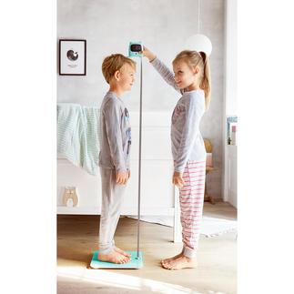 Pèse-personne avec mètre ruban intégré La nouvelle génération de pèse-personne vous donne votre poids et même votre taille.