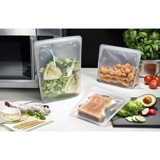 Stasher Bag Stasher Bags, les sachets alimentaires en silicone réutilisables. Appropriés pour conserver, transporter, congeler, cuisiner et même mettre sous-vide.