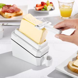 Coupe-beurre «butter-leaf» Une invention ingénieuse coupe de fines tranches de beurre froid.