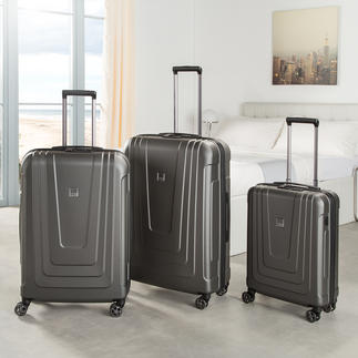 Trolley Titan®  X-Ray Pro Les valises nouvelle génération : avec lecteur d'empreintes digitales au lieu d'une serrure à code. Conception et réalisation de qualité : made in Germany.
