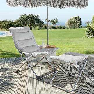 Fauteuil pliable ou Tabouret Fiam L'art de vivre à l'italienne : le fauteuil pliable pour la terrasse, le jardin, la piscine ...