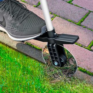 Roulette télescopique à bordures de gazon Des bordures de gazon soignées, sans vous penchez et en tout confort.