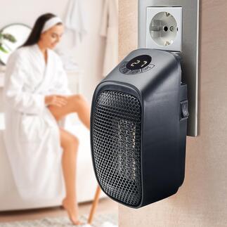Mini chauffage pour prise secteur Votre mini-chauffage mobile pour la salle de bain, le bureau, l'atelier, l'abri de jardin, le camping-car …