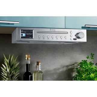 Station musicale de cuisine Elite Line ICD2200SI Votre station musicale de cuisine : stylée, avec un son puissant et des équipements multiples.