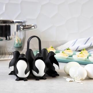 Coquetier «Egguins» Original et pratique : le coquetier « Egguins » au design à pingouin amusant. Cuisez et servez jusqu'à 6 œufs en un seul geste.