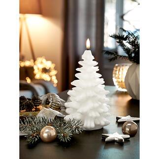 Bougie LED sapin de Noël UYUNI Lighting Superbe fabrication en 3 dimensions à partir de cire véritable, avec un jeu de flammes particulièrement réaliste.