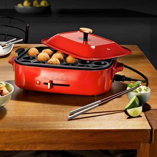 Sauteuse multi-cuisson et barbecue de table Griller, rôtir, bouillir, cuire à la vapeur … avec seulement un appareil de table élégant.