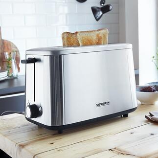 Grille-pain turbo en acier inoxydable AT 2513 Probablement le grille-pain le plus rapide au monde.