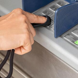 Porte-clé SafetyTouch® Il protège vos doigts des virus, des bactéries et de la saleté.