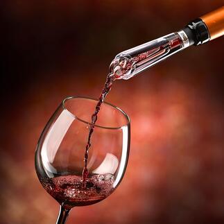 Décanteur à vin AIROVIN « … aère vraiment le vin au niveau visuel et en goût » : tel est le bilan du test du magazine Haus & Garten (édition 4/2020).