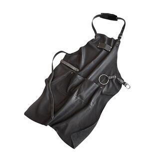 Tablier en cuir pour barbecue Le tablier luxueux en cuir imperméable, fabriqué à la main en Allemagne. Une exclusivité mondiale pour Pro-Idée.