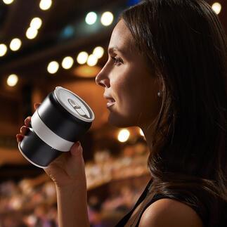 Gobelet thermos repliable Durable, pratique, élégant et unique dans son genre : le gobelet thermos pliable à double paroi en inox.