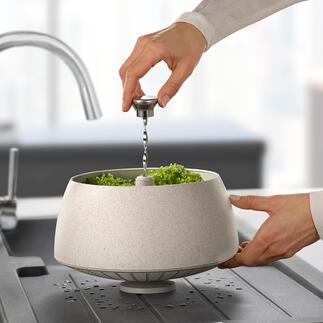 Essoreuse à salade Green Tool Tendance, fonctionnelle et respectueuse de l'environnement : l'essoreuse à salade en biocomposite durable. Par Eva Solo.