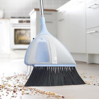 Balai aspirant sans fil VaBroom Ingénieusement pratique et propre : en quelques secondes vos sols sont balayés et propres, sans pelle et sans avoir à se pencher péniblement.