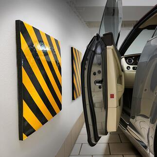 Tampons pour garage, lot de 2pièces Fini les portes de voitures rayées.