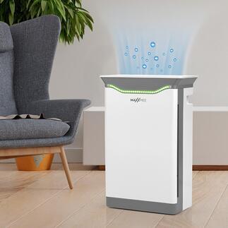 Assainisseur d'air haute puissance H14MAXXMEE Technologie de filtration professionnelle pour un air ambiant presque exempt de germes et d'allergènes, à un prix raisonnable.