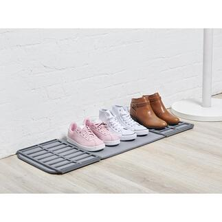Tapis à chaussures repliable Une zone de rangement ingénieuse pour les chaussures mouillées et sales qui n'obstrue jamais votre espace inutilement.