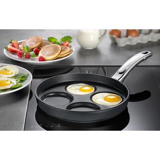 Poêle à auges BAF Fischbach Pancakes, œufs au plat, tortilla toujours de la même taille, de la même épaisseur, parfaitement ronds et 4 portions en même temps.