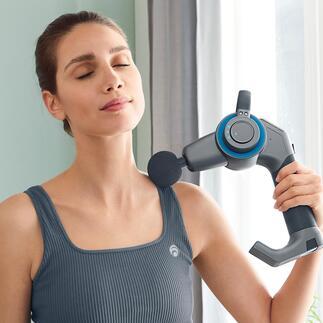 Pistolet de massage par percussion à bras articulé Outil de massage ultra efficace pour masser les muscles, les fascias et le tissu conjonctif. Maintenant équipé d'un bras articulé à 45° pour les zones du corps difficiles d'accès.