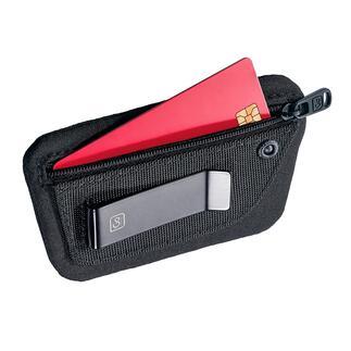 Minipochette «Clippouch» Argent, carte de crédit, carte d'identité … tout est à portée de main, même avec de légers vêtements d'été.