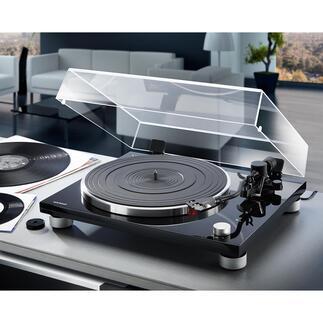 Tourne-disque PLATINUM de sonoro Un son parfait, branchement analogue et digital, utilisation et installation ultrasimples. Par sonoro, le spécialiste allemand de l'audio.