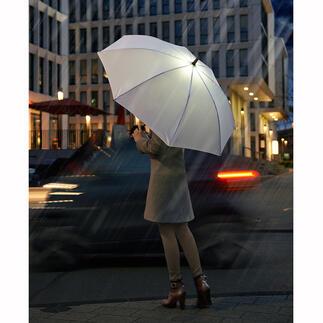 Parapluie canne à LED Le parapluie à éclairage LED pour mieux voir et être vu dans la pénombre.