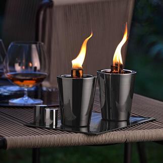 Torche de table, lot de 2pièces Une ambiance romantique comme autour d'un feu de camp. Parfait pour votre jardin et votre terrasse.