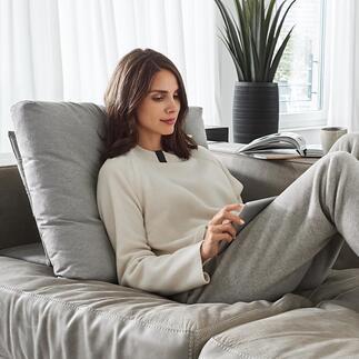 Coussin de canapé bidirectionnel Bullfrog® L'ingénieux coussin bidirectionnel fait de toute assise moderne un lieu encore plus confortable. En intérieur comme en extérieur.