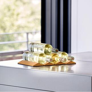 Porte-bouteilles design Repliable pour économiser en place. Produit design de qualité, made in Germany.