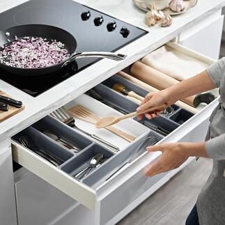 Organiseur à tiroirs modulable Cet organiseur modulable permet de créer une compartimentation individuelle de vos tiroirs. Par Joseph Joseph, le spécialiste britannique de l'aménagement.
