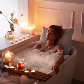 Coussin de baignoire Ce coussin immergé de grande qualité fait de votre baignoire un lieu de bien-être, comme dans du coton.