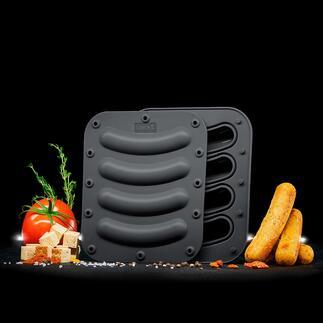 Moule à saucisses en silicone, lot de 2pièces Des saucisses végétarienne et végétalienne faites maison, selon votre recette personnelle – plus facile que jamais.