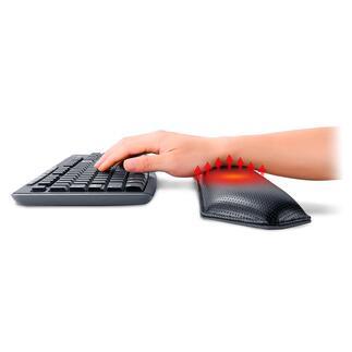 Support de soutien chauffant pour les poignets Ce support amélioré pour les poignets offre un soutien ergonomique et une chaleur bienfaisante. Pour le clavier et la souris.