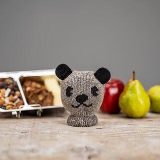 Chaussette à fruits «Buddy» Cette chaussette tricotée en laine douce transporte vos fruits tout en les protégeant des chocs et pressions et préserve vos sacs des taches.