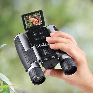 Jumelles FullHDTX-142 Des jumelles d'une grande précision et un caméscope Full HD réunis dans un seul objet. Même par faible luminosité.