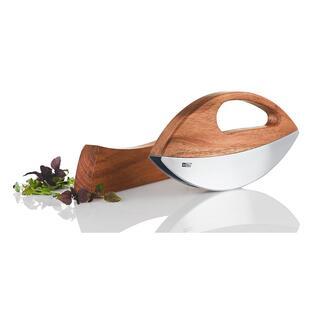 Hachoir berceuse à une main Wave Vous coupez vos herbes aromatiques fraîches facilement tout en préservant les arômes. Design de qualité made in Germany.