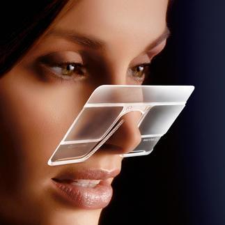 eyeCard®, lot de 2 Avec grossissement x 2,5. Pratique à la maison & en voyage. Adaptée aussi aux porteurs de lunettes.