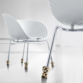 Chaussettes pour chaises de Wukies, lot à 4 pièces Pattes de velours pour les pieds de vos chaises.
