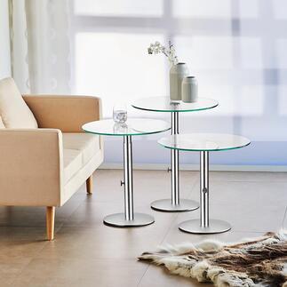 Desserte en verre Design noble pour de multiples occasions et toutes les ambiances imaginables.