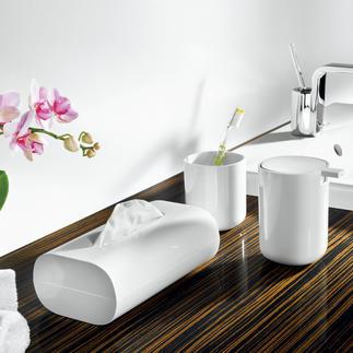 Accessoires de salle de bain Alessi Rangements pratiques au style à la fois élégant et accrocheur. Design : Piero Lissoni, 2010.