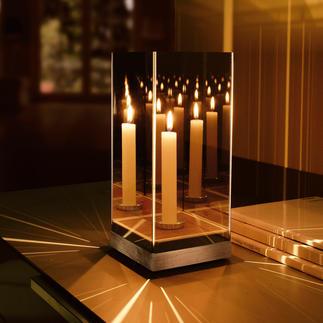 Miroir lumineux mystérieux Une seule bougie pour un effet d'une beauté déroutante.