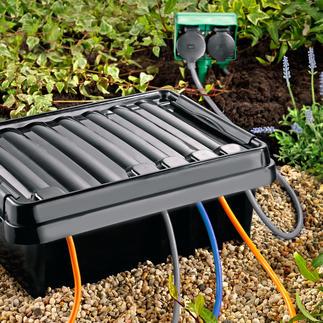 DRi®BOX Un endroit sûr en extérieur pour votre multiprise mobile. Protège contre le mauvais temps, la poussière & l'eau.