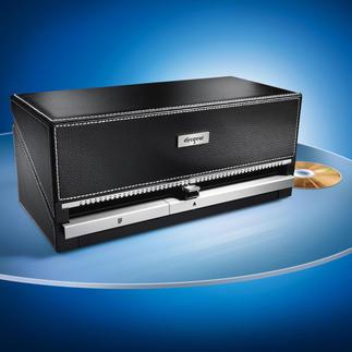 Boîte de rangement pour CD/DVD Rangez vos CD avec style : le CD de votre choix par simple pression sur un bouton. Pour 100 CD.