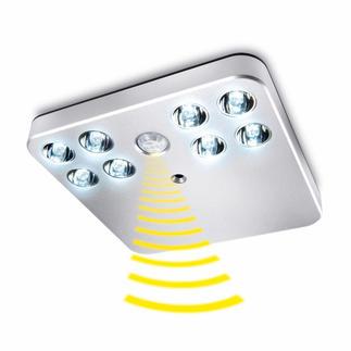 Éclairage par capteur à DEL Petit, clair, sans raccordement électrique. L'éclairage par capteur automatique pour les armoires, les tiroirs, les escaliers…