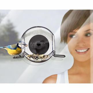 Mangeoire cloche pour oiseaux, lot de 2 Observez les oiseaux de tout près. Tient à la vitre par une ventouse. Résistante au gel.