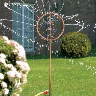 Jeu d'eau Blue Swirl Un objet d'art fascinant irrigue votre jardin assoiffé.