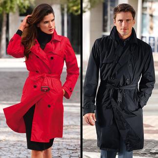 Trench-coat imperméable de Knirps® Déperlant et respirant. Prenant peu de place et ultraléger. Lavable et séchant rapidement.