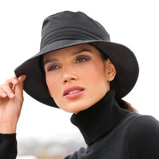 Chapeau fonctionnel en coton Pur coton biologique. Résistant aux intempéries comme un tissu fonctionnel. Réchauffant. Déperlant. Respirant.