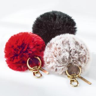 Porte-clés en fourrure tissée Un cadeau très pratique qui fera, encore et toujours, penser à vous tendrement.