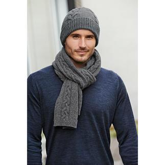 Bonnet ou Écharpe en tricot torsadé Fisherman Rares et originaux : ces accessoires en tricot torsadé « irlandais » viennent réellement d'Irlande.